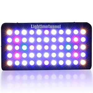 Lightimetunnel 165W Dimmable LED Aquarium Light Full spectrum Hood Lighting for LPS SPS Coral Reef Fish Tank