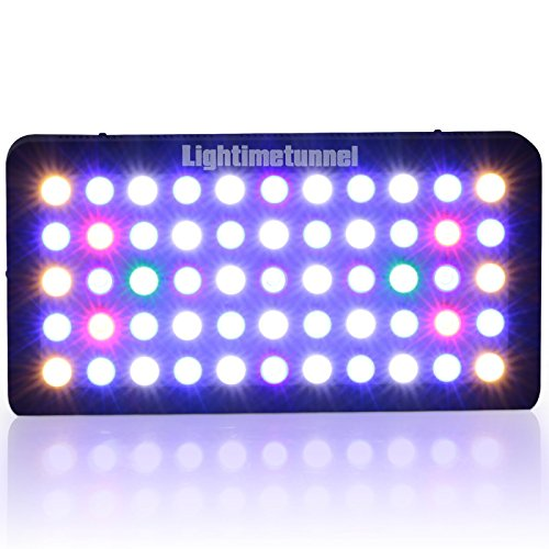LED Aquarium Light, Lightimetunnel 165 Watt Dimmable Fish Tank Light Full Spectrum for Coral Reef Freshwater and Saltwater Marine Tanks LPS/SPS
