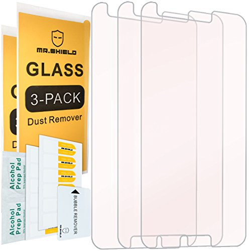 [3-PACK]- Mr Shield For Alcatel ZIP [Tempered Glass] Screen Protector [0.3mm Ultra Thin 9H Hardness 2.5D Round Edge] with Lifetime Replacement Warranty