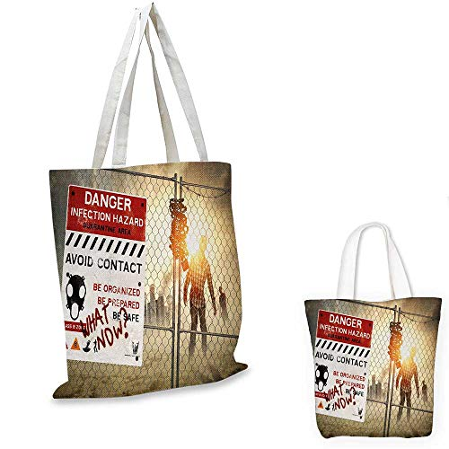 Zombie royal shopping bag Dead Man Walking in Dark Danger Scary Scene Fiction Halloween Infection Picture funny reusable shopping bag Multicolor. 12