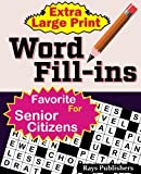 Extra Large Print WORD FILL-ins