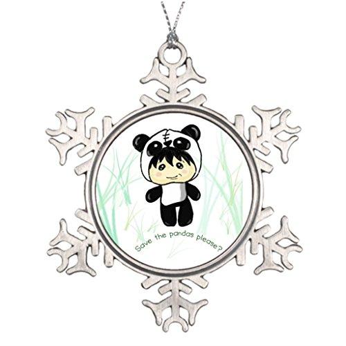 [Darlingz Ideas For Decorating Christmas Trees Chibi Save the Pandas please Christmas Personalized Snowflake] (Chibi Halloween Costume)