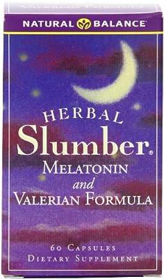 Natural Balance Herbal Slumber Melatonin and Valerian Formula