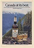 1978 Canadian Mist Whisky Walkers Dome British Columbia Canada Print Ad (66873)