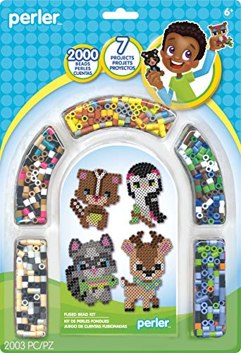 (Perler Beads Forest Animals Fuse Bead Kit, 2000pcs, 7 Projects)