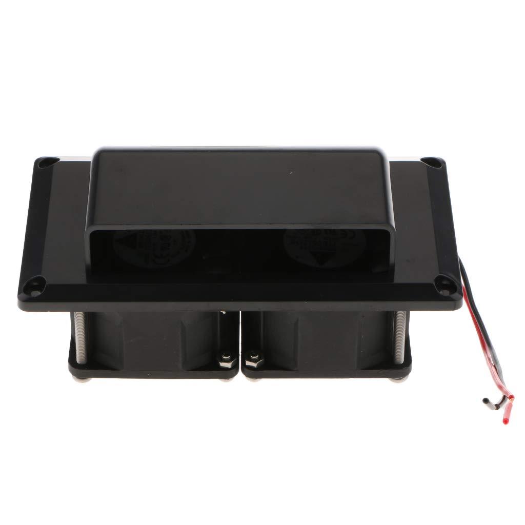 Waterproof kesoto Universal RV Camper Trailer Motorhome Inner Side Air Vent Ventilation Exhaust Fan 12V DC 25W Black