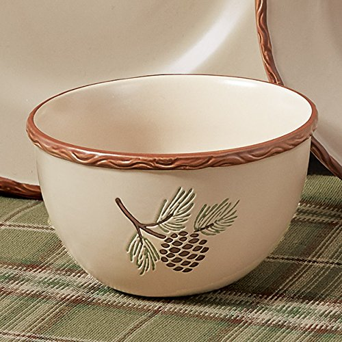 Black Forest Decor Northern Pinecone Cereal Bowl