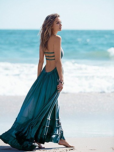 Amazon.com : Beach dress sexy dresses boho bohemian people dress summer long blackless cotton women party hippie chic vestidos mujer 2016 Size M ...