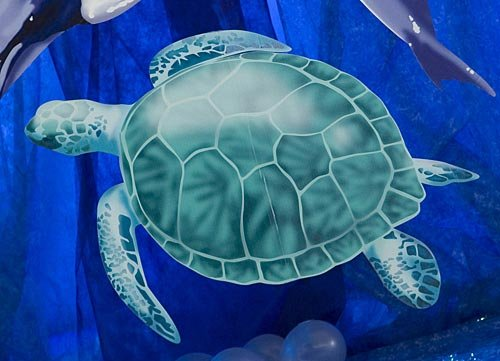 Sea Ocean Turtle Standee Underwater Standup Photo Booth Prop Background Backdrop Party Decoration Decor Scene Setter Cardboard Cutout