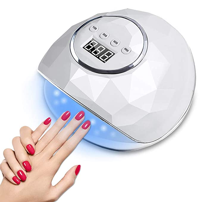 86w Led Uv Nail Lamp Fast Nail Dryer With Automatic Sensor For Fingernails And Toenails 4 Timer Setting And Lcd Display Professional Gel Nail Polish Curing Light Lamp For Nail Lovers Salon Use Beauty Amazon Com