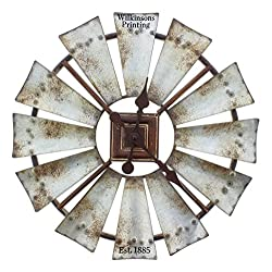 Special T Imports Rustic Windmill Clock (16 Personalized)