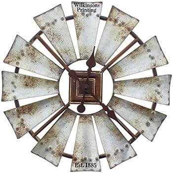 Amazon Com Special T Imports Rustic Windmill Clock 16