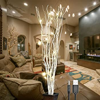 This Item Lightshare 36inch 16led Natural Willow Twig Lighted Branch For Home Decoration Usb Plug In And Battery Powered
