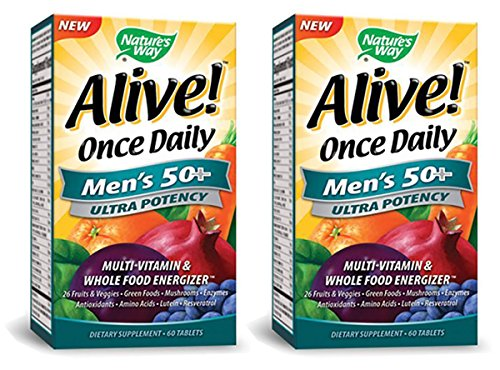 (Nature's Way Alive Once Daily Men's 50+ Ultra Potency Tablets, 60, 2 Pack)