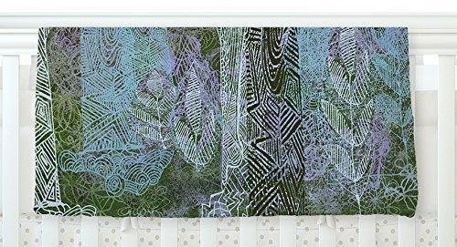 KESS InHouse Marianna Tankelevich Wild Forest Blue Trees Fleece Baby Blanket 40 x 30 [並行輸入品]   B0785Q5DTT