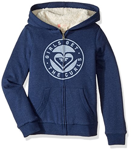 Roxy Big Girls' Memorize Density Hoodie, Dress Blues Heather, 16 by Roxy