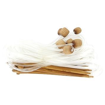 Wadoy 12 Größen afghanischen tunesischen Carbonized Bambus ...
