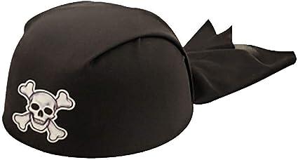 Adults Fancy Black Pirate Headband Hat Unisex Book Week Party Wear Accessory