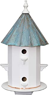 """product image for 6 Room 30"""" Birdhouse - Weatherproof Azek Vinyl with Patina Copper Top Bird House Amish Handcrafted in Lancaster Pennsylvania USA"""