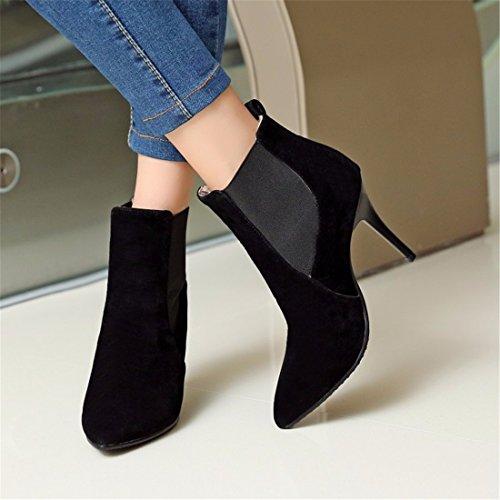 El invierno y finos frote código señaló botas y botas con Black cachemires el otoño qCqxBwUR