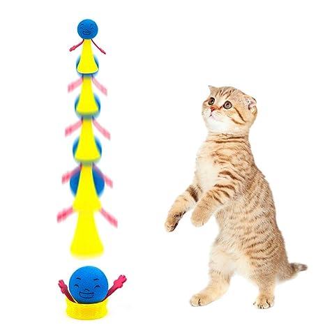 ToomLight 2 unids/Set Divertido Salto Gato Juguete Mascota Gato Rebote Juguete Cachorro Gatito Jugando