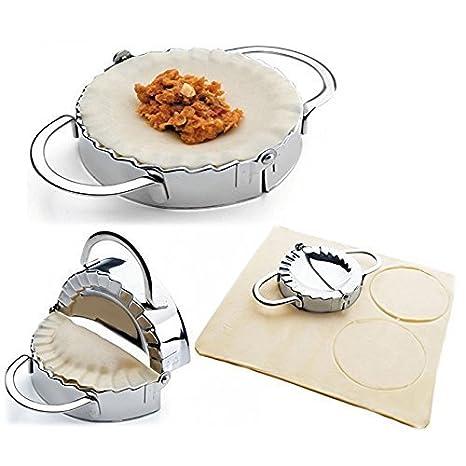 Compra Romote de acero inoxidable de acero inoxidable Ravioli de moldes de masa hervida fabricante Envoltura pierogie Pie Crimper pastelería en Amazon.es
