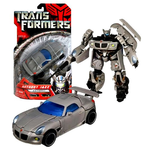 Class Spoilers (Hasbro Year 2006 Transformers Movie Series Deluxe Class 6 Inch Tall Robot Action Figure - Autobot JAZZ with Telescoping Sword and Spoiler Shield (Vehicle Mode : Silver Pontiac Solstice))