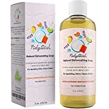 dishwasher Liquid Dish Soap for Home and Kitchen Dishes - Natural Dishwashing Detergent with Lemon + Orange - Lavender + Bergamot Moisturize Hands - Remove Grease + Grime from Pots Pans + Tableware - Dye Free
