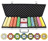 500 Piece Stripe Suited V2 Clay Poker Chips Set