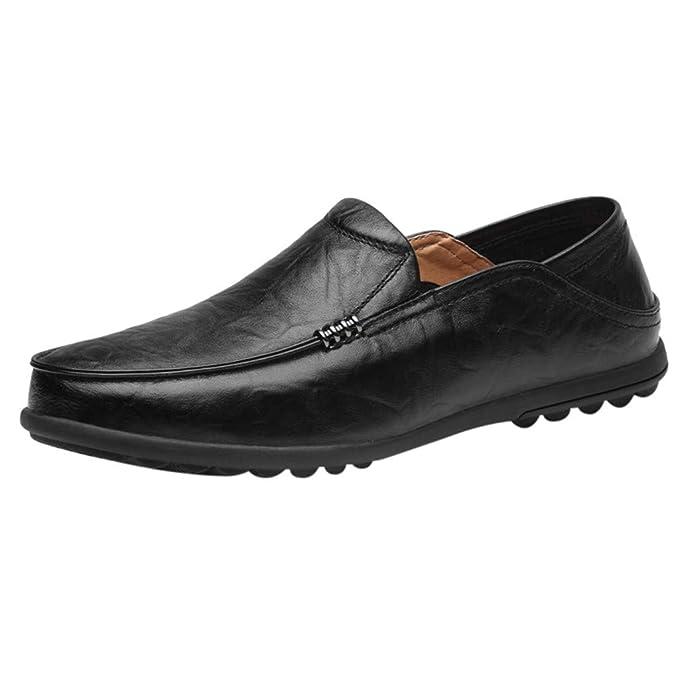Amazon.com: Zapatos de hombre clásicos de piel con diseño de ...