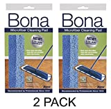 Bona Microfiber Cleaning Pad, 1 ea Pack of 2