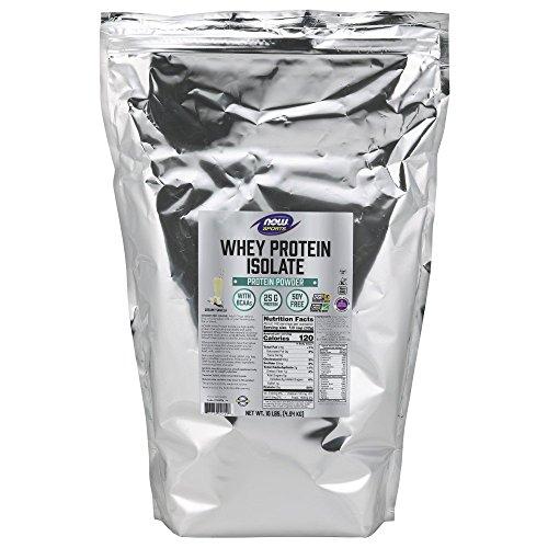 (Now Sports Nutrition, Whey Protein Isolate Powder, Creamy Vanilla, 10-Pound)