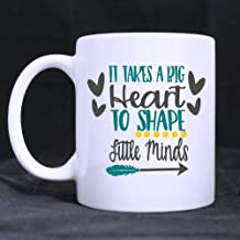 SCSF Teacher Gift It Takes a Big Heart to Teach Little Minds Coffee Mug Funny Inspirational Coffee or Tea Cup 11 Ounce