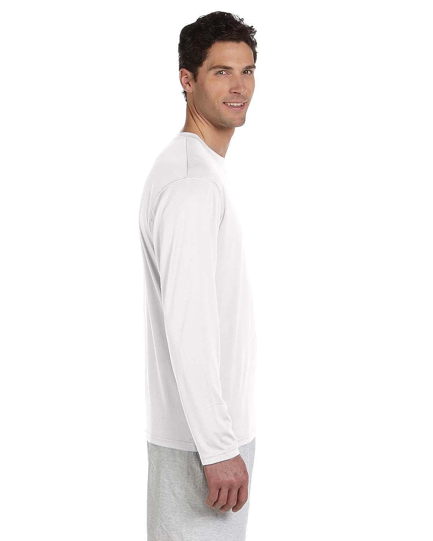 Champion Double Dry 4.1 oz Long-Sleeve Interlock T-Shirt