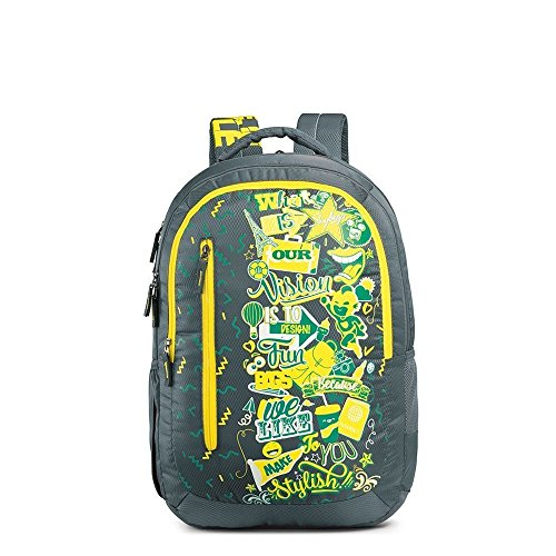 Skybags Pogo Plus 35 Ltrs Grey School Backpack  BPPOGP5GRY