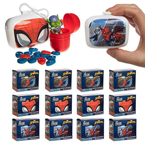 Galerie Finders Keepers (12 Pack) Surprise Toys Box Spiderman Toys Kids Toys and Hard Candy Bulk Set Toy