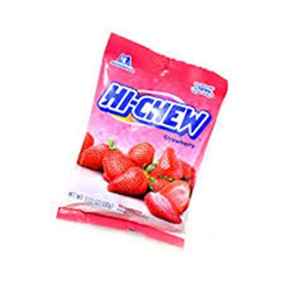 Hi-Chew Strawberry Fruit Flavored Chew Candy, 3.53 oz, Pack of 2