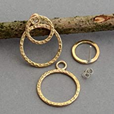 35f5a1698a69f Amazon.com: 14k gold filled front back ear jackets double sided hoop ...