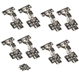 JinHe Stainless Steel Soft Slow Close Frameless Cabinet Hinges For Inset Door 4-Pairs