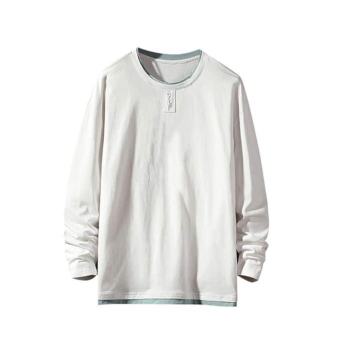 AMUSTER Maglietta Maglioni Camicie Uomo Invernali Leggero