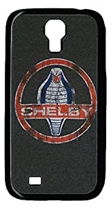 Samsung Galaxy S4 Case, S4 Case - Scratch-Resistant Black Hard Back Case for Samsung Galaxy S4 I9500 Ford Mustang Cobra Shelby Car Logo 9 Best Protective Case for Samsung Galaxy S4 I9500