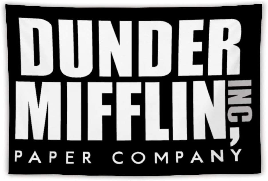 Dunder Mifflin Paper Company Tapestry Wall Hanging Tapestry for Living Room Bedroom Dorm Home Decor