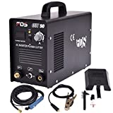 Goplus CUT-50 Electric Digital Plasma Cutter Inverter 50AMP 110-220V Dual Voltage Welder Cutting with Free Mask (Black) Larger Image