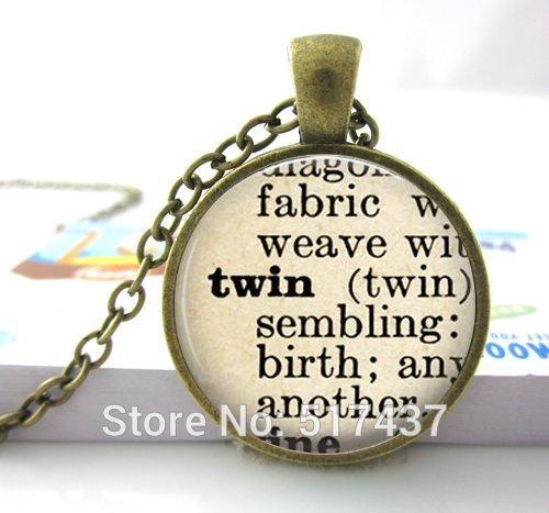Pretty Lee 1Pc Dictionary Necklace Twin. Sister Jewelry. Definition Necklace. Sister Necklace. Gift For Twin. Handmade Jewelry