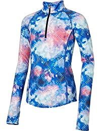 Girls' Cold Weather Compression Printed 1/4 Zip Long Sleeve Shirt
