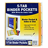 C-Line 5-Tab Binder Pockets with Write-On Index