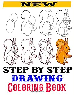 step by step drawing coloring book drawing art book adults and kids cat dog fish tiger elephant zebra lion duck flower birds many more m ruf aviator 9798619548945 amazon com books amazon com