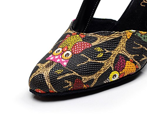 EU39 Tango Heels Shoes 5cm Dance JSHOE UK6 Shoes Latin Black heeled7 Modern Sandals Our40 Salsa Women's High Samba Tea Jazz XfXaOvU