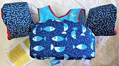 Speedo Kids' UPF 50+ Begin to Swim Printed Neoprene Swim Vest (Blue) (Swim Paddle Straps)