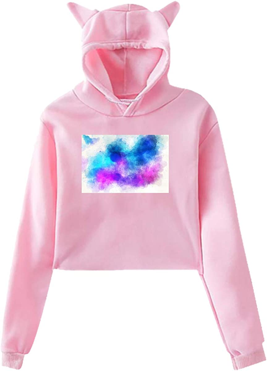 Fashion Sweatshirt Sweater Pink Personality Girl Cat Ears Umbilical Hoodie